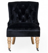 Hurlingham Library Chair - Black Velvet - India Jane