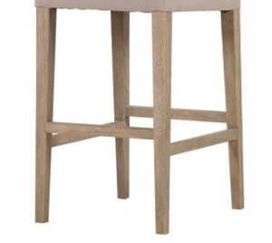 Sand Coloured Jonah Bar Stool  - Contemporary French