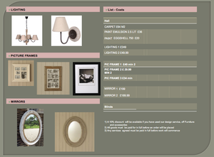 Digital Room Design and Colour Board with Interior Designer Kerrie Griffin