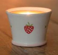 Load image into Gallery viewer, Strawberry Design Ceramic Scented Candle by Suzie Watson