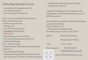 Learn How to Heal Yourself 3 Day Residential Course