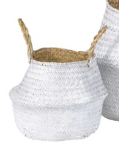 Load image into Gallery viewer, Set of 2 White Grass Storage Baskets