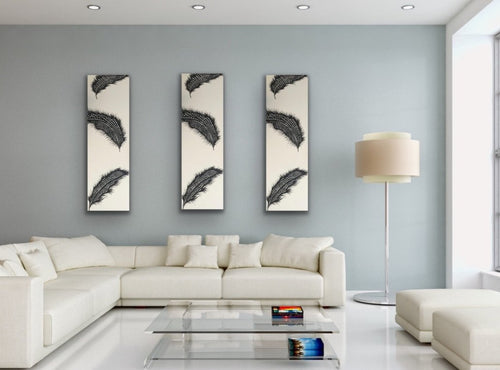 Original Canvas Feather Painting