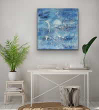 Load image into Gallery viewer, A Large Textured Abstract Canvas Original Painting by Kerrie Griffin Called Waves available from The Interior Co