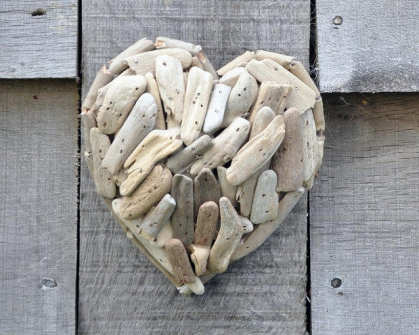 Driftwood heart small fair-trade product by The Interior Co