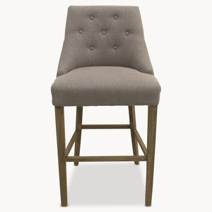 ST JAMES SOFT GREY uppholstered BAR STOOL