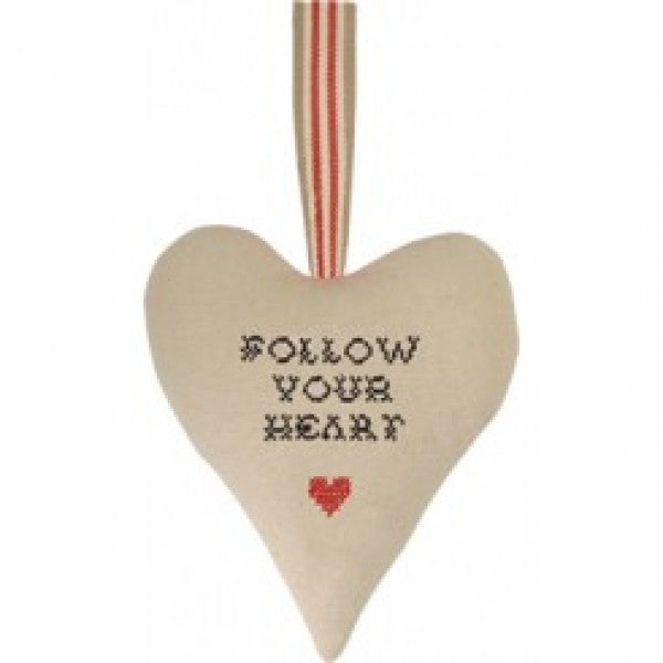 Follow your heart linen heart