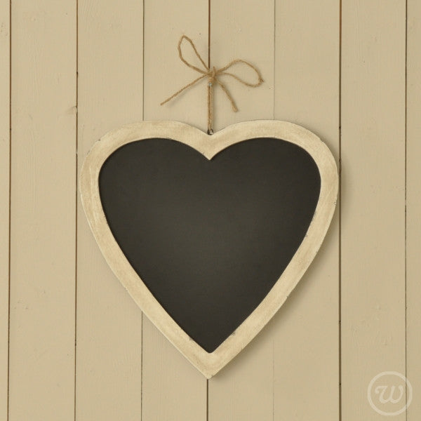 Hanging heart chalk board
