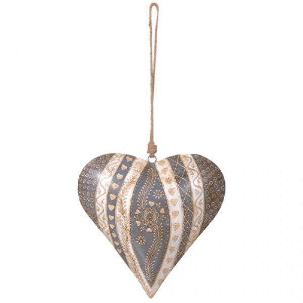 Tin Hand Made Henna Heart Small by the interior co Cheshire