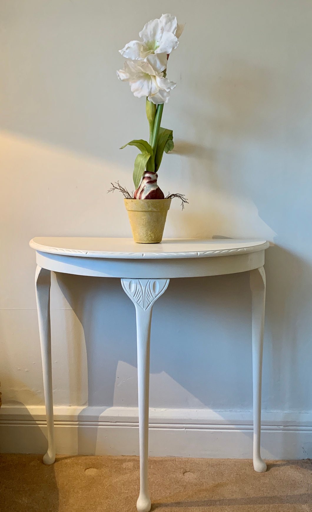 Half Moon Table in Cream