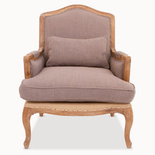 Load image into Gallery viewer, Deconstructed Oak And Burlap Chair The Interior Co