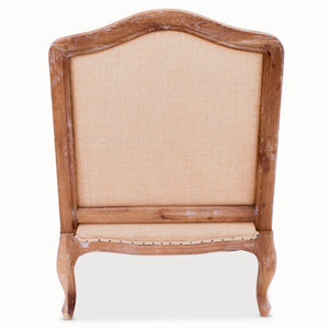 Deconstructed Oak And Burlap Chair The Interior Co