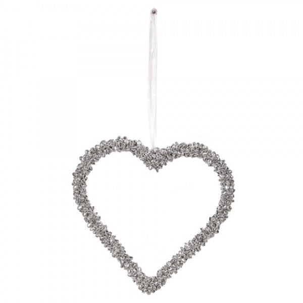 Large 'mini bells' heart decoration