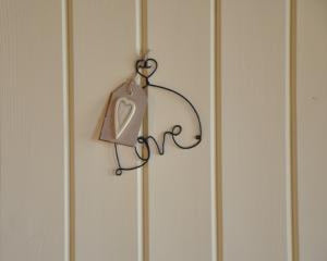 Love Metal Hanger with Heart