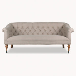 Chatsworth Oak Curved Button Back Sofa  One World The Interior Co