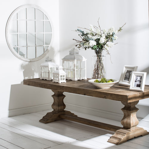 COUNTRY HOMES & INTERIORS: SALVAGED DINING TABLE