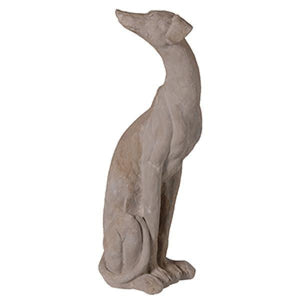 RESIN LURCHER DOG - Grey