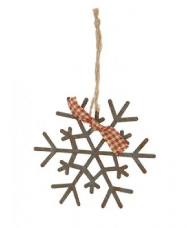 Rusty metal snowflake decoration