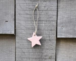 Small pink wooden star