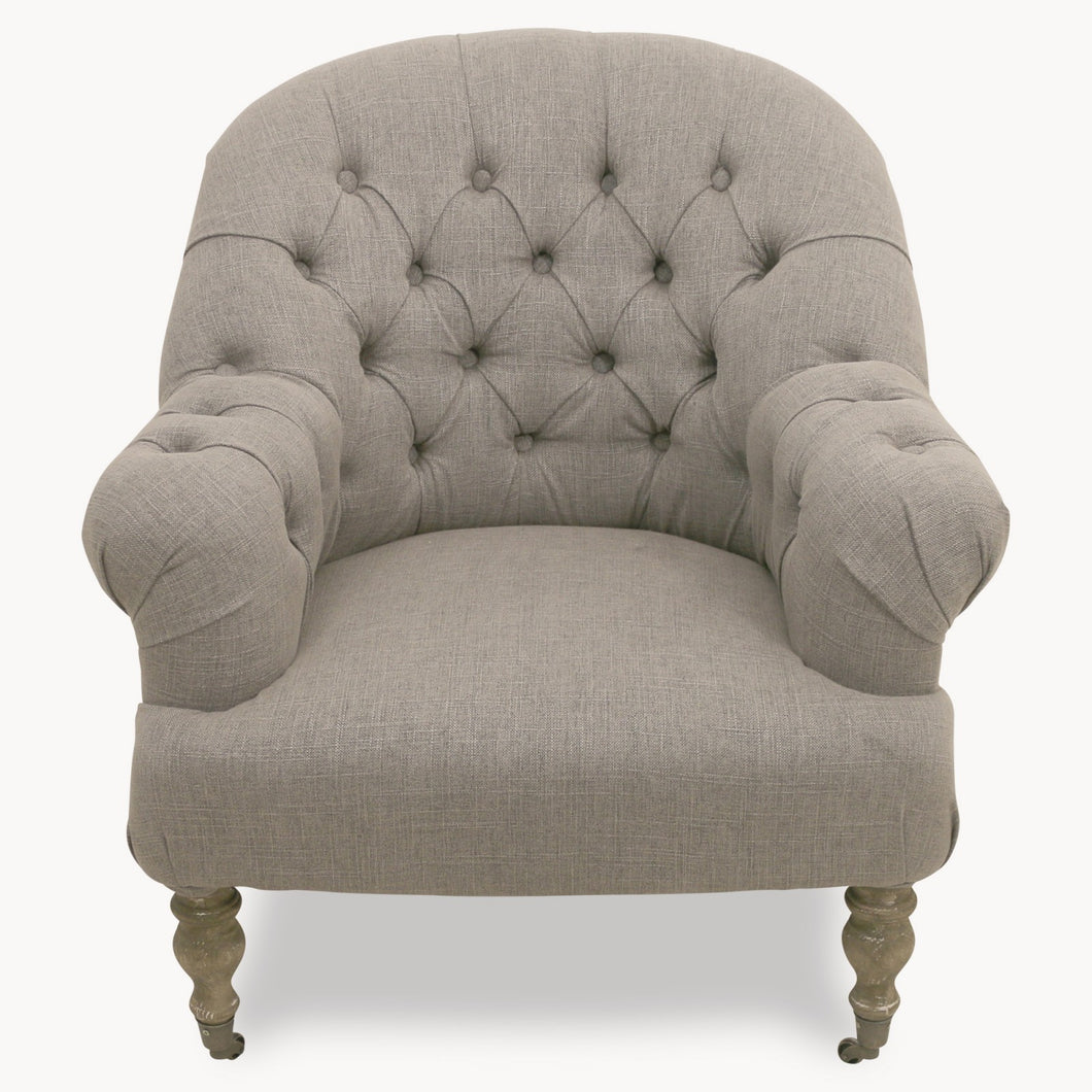 Upholstered Natural Occasional Chair