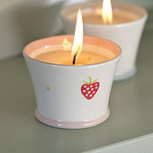 Strawberry Design Ceramic Scented Candle by Suzie Watson