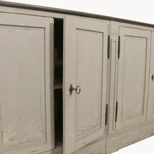 Load image into Gallery viewer, WOODCROFT COLONIAL GREY SIDEBOARD WITH STONE TOP