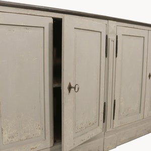 WOODCROFT COLONIAL GREY SIDEBOARD WITH STONE TOP