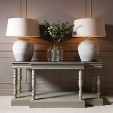 Load image into Gallery viewer, WOODCROFT STONE TOP AND COLONIAL GREY CONSOLE TABLE