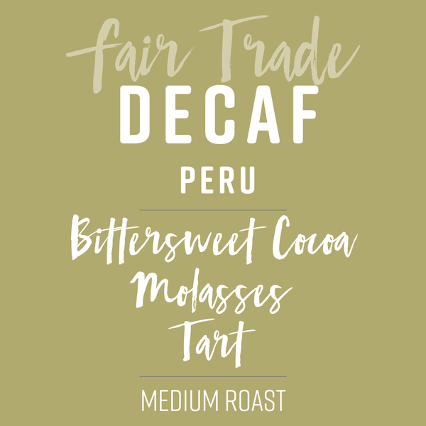 Organic Decaf Coffee - Fundraiser