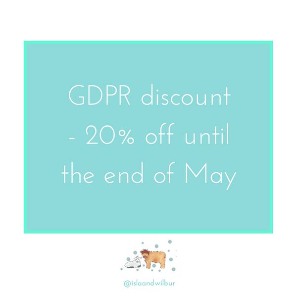 It's GDPR day - so let's do little discount