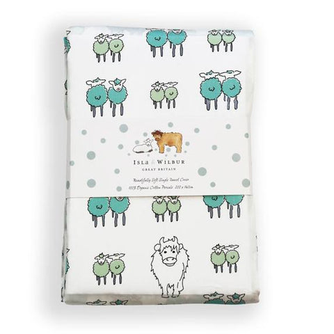 Children's Organic Single Bed Duvet Cover Twin Lambs