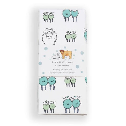 Twin Lambs Cot Bed Fitted Sheet