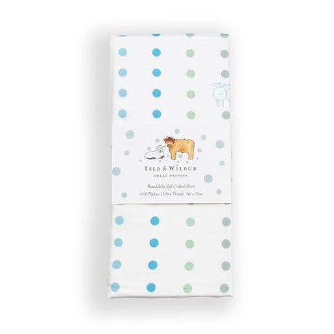 Small Spots Cot Bed Fitted Sheet