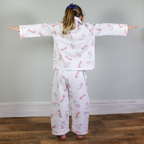 Embroidered Personalised Woolly Isla Lamb Dressing Gown