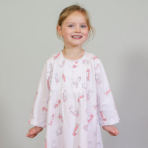 Embroidered Personalised Isla Lamb Dressing Gown