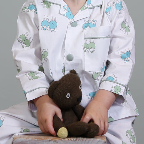 Green Isla Lamb Pyjamas