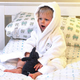 Embroidered Personalised Isla Lamb Dressing Gown - Isla & Wilbur