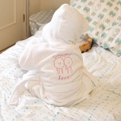 Embroidered Personalised Rory Puppy Dressing Gown