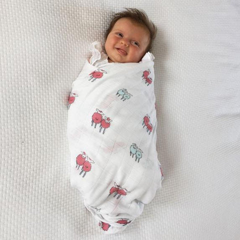 Triple Pack Green Bamboo Swaddles