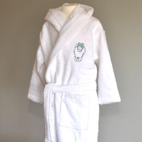Embroidered Personalised Wilbur Calf Dressing Gown