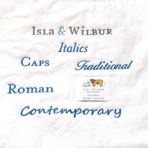 Embroidered Personalised Isla Twin Lamb Hooded Towel