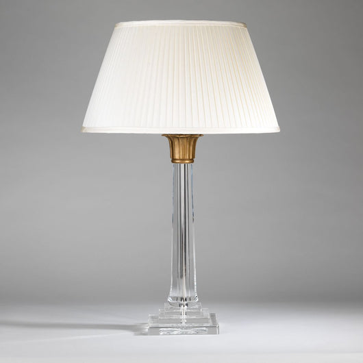 Lotus Column Table Lamp-Brass