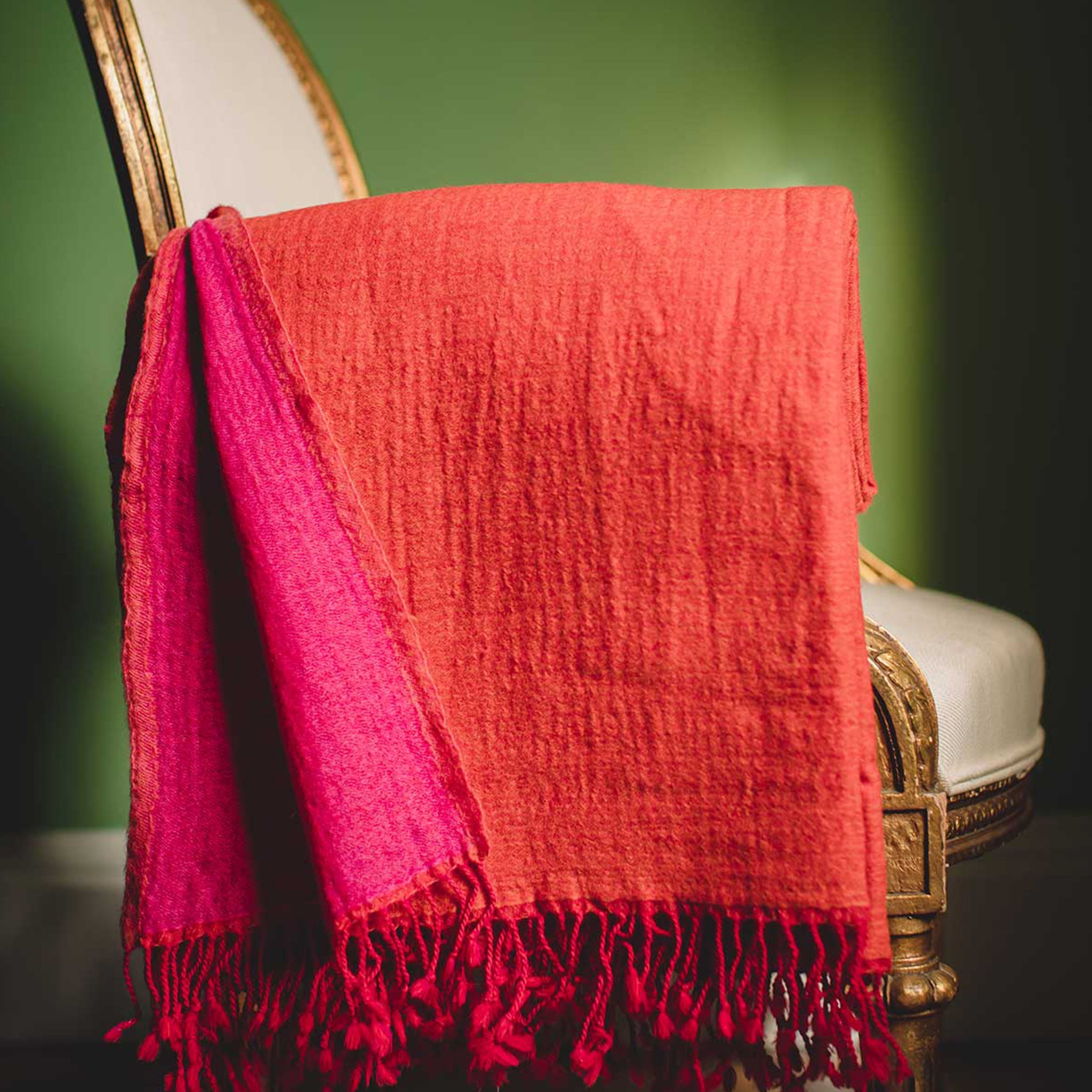 Amber Rani Washed Wool Throw | Nicholas Engert Interiors