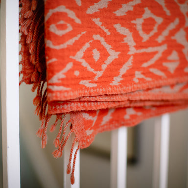 Amber Wool Ikat Throw | Nicholas Engert Interiors