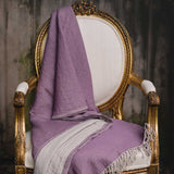: Amethyst Washed Wool Throw | Nicholas Engert Interiors