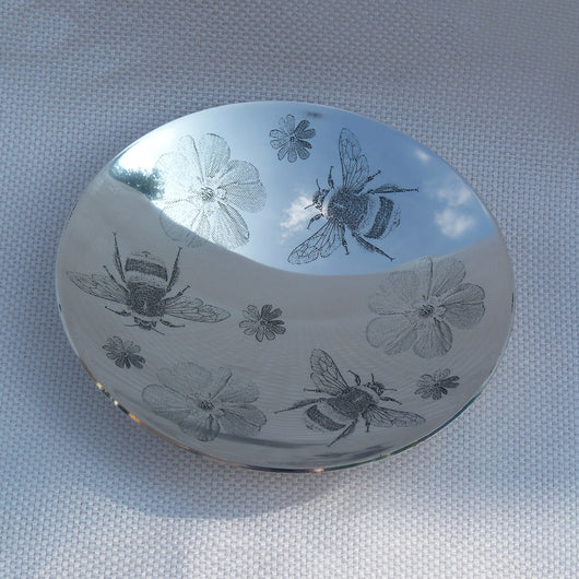 Silver Bee & Anemone Bowl