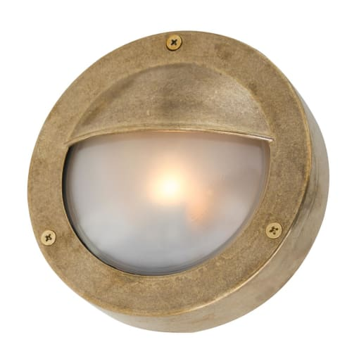Begawan Outdoor Bulkhead Light - Raw Brass | Nicholas Engert Interiors
