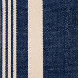 : Woven Striped Fabric - Crantock 05/031 Mood Indigo