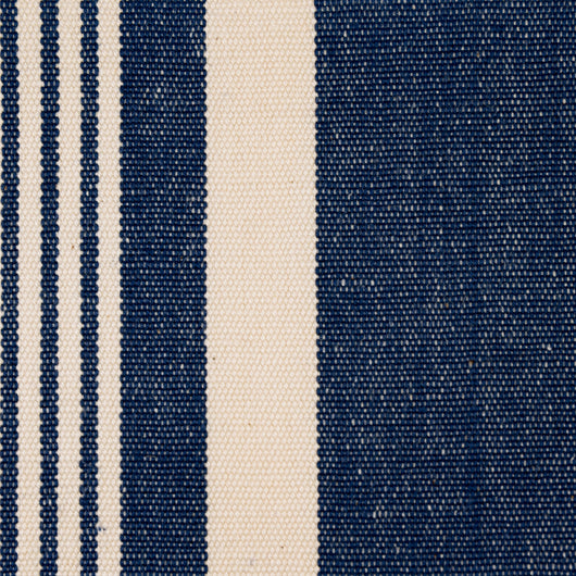 Woven Striped Fabric - Crantock 05/031 Mood Indigo