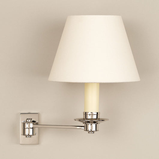 Library Single Arm Wall Light-Nickel
